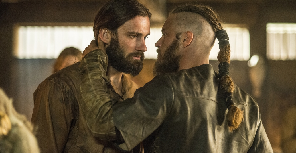 Clive Standen as Rollo and Travis Fimmel as Ragnar
