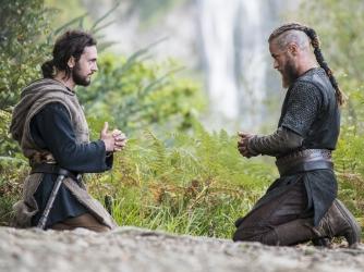 George Blagden as Athelstan, Travis Fimmel as Ragnar
