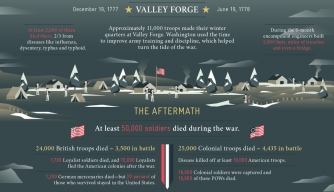 American Revolution by the Numbers Infographic