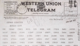 What was the Zimmermann Telegram?