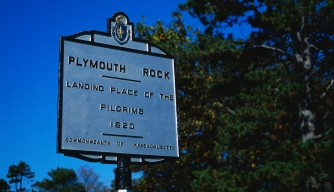 Did the Pilgrims intend to land at Plymouth?