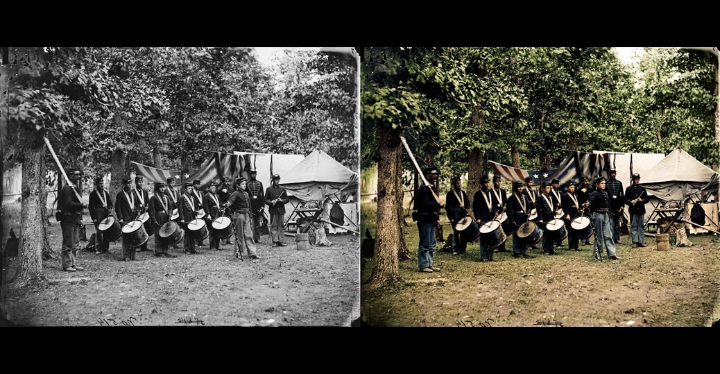 Blood And Glory The Civil War In Color 9 Before And Civil War Pictures In Color