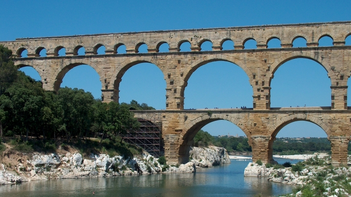 Ancient Roman Aqueducts  Dark Brown Hairs