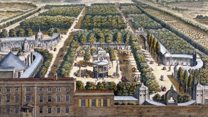 Vauxhall Gardens, 1751 (Credit: Guildhall Library & Art Gallery/Heritage Images/Getty Images)