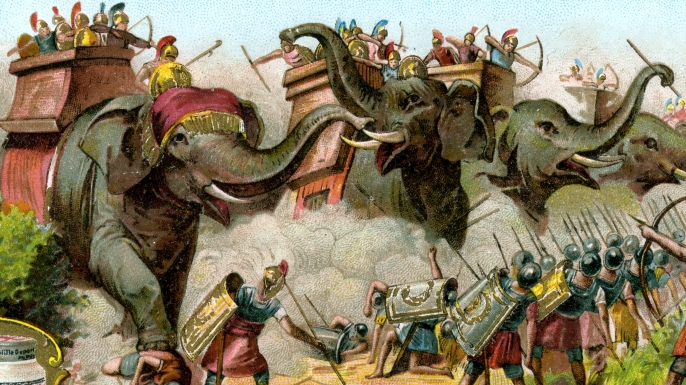The elephants of Pyrrhus (Credit: The Print Collector/Print Collector/Getty Images)