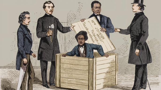 list 5 daring slave escapes 'Box' Brown Mails Himself