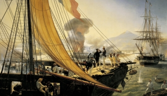 Picture of the taking of citadel San Juan de Ulua