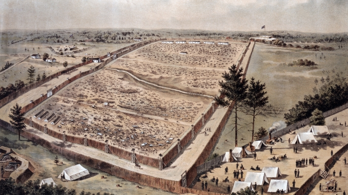 POW camp at Andersonville prison.