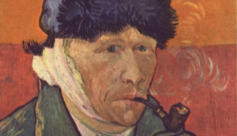 Van Gogh self-portrait with damaged ear