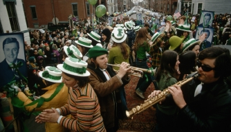 Revelers celebrate St. Patrick's Day in Boston.