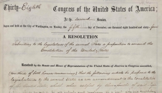 The 13th Amendment, bearing Lincoln's signature