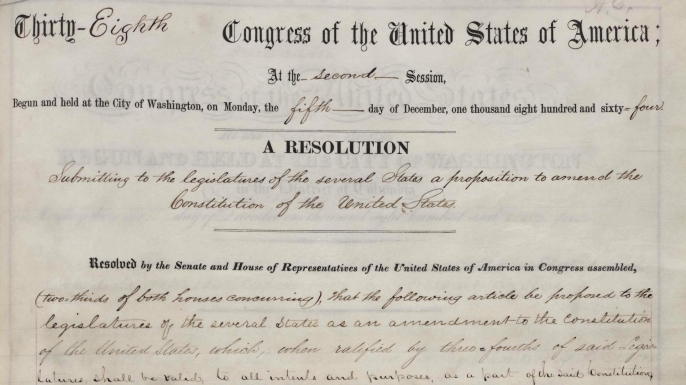 Congress Passes 13th Amendment 150 Years Ago History In