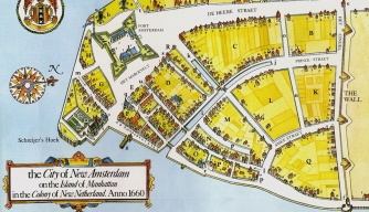 1660 Map of New Amsterdam