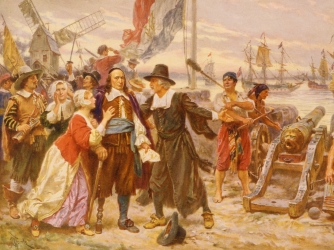 Dutch governor Peter Stuyvesant surrenders New Amsterdam to the British, September 8, 1664.