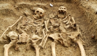700-Year-Old Skeletons Found Holding Hands