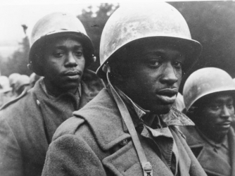 African-American troops at the Battle of the Bulge