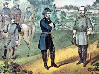 Sherman and Confederate General Joseph E. Johnston (Credit: Universal History Archive/Getty Images)