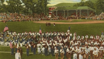 Baseball game at the Hall of Fame's Doubleday Field on June 12, 1939