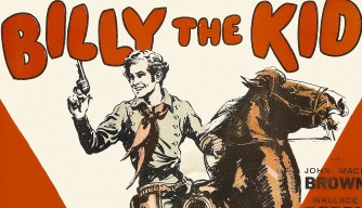 "Poster for the 1925 movie ""Billy the Kid."""