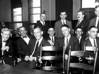 the black sox baseball scandal years ago in the   black sox players on trial