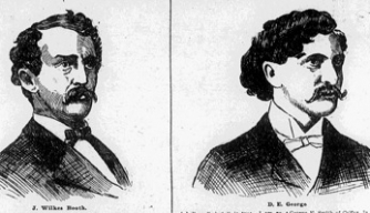 Side-by-side comparison photos of John Wilkes Booth and David E. George