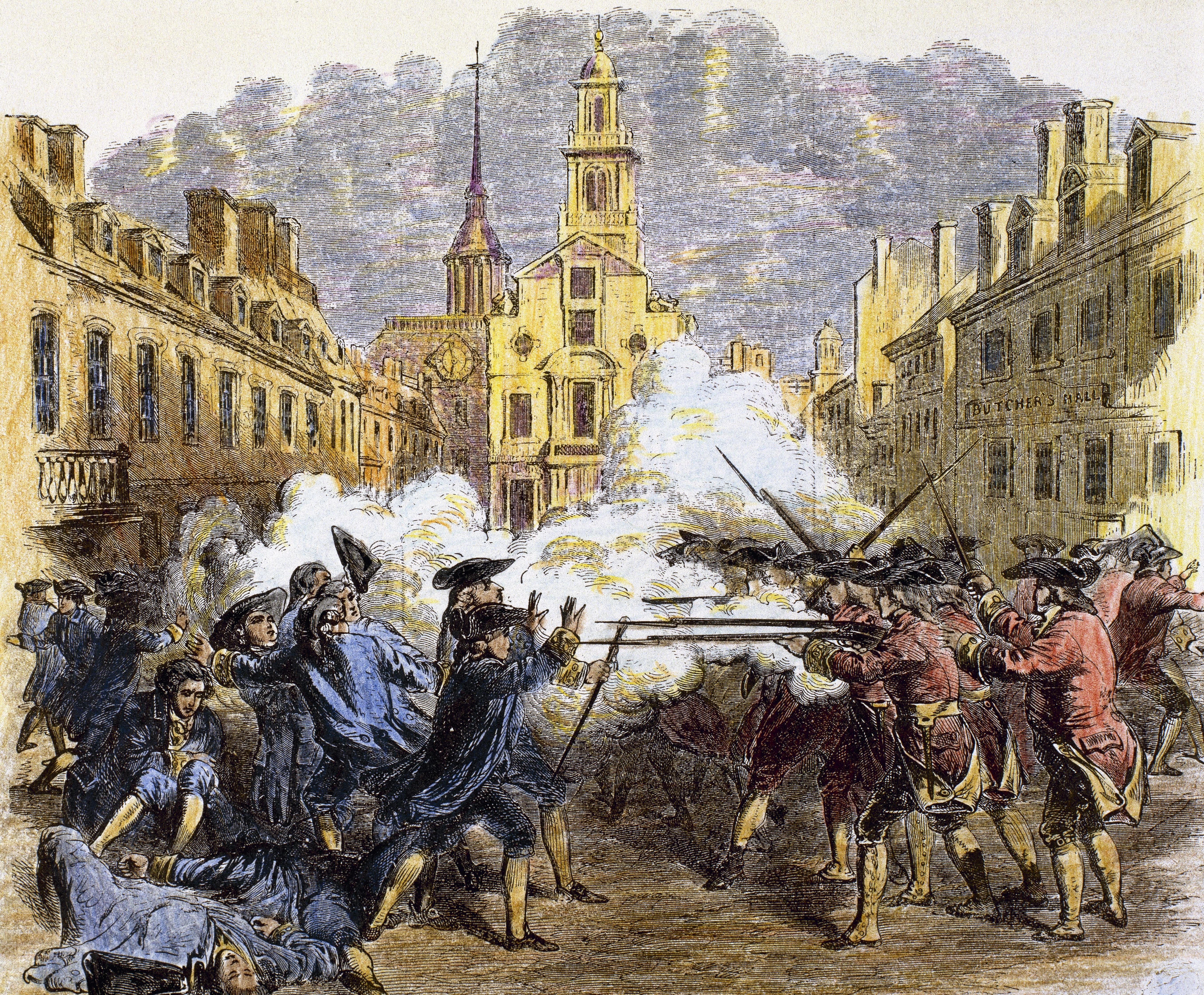 remembering the boston massacre in the headlines credit prisma uig getty images