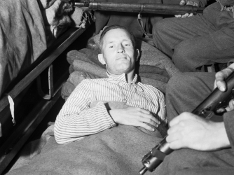 """William Joyce, aka """"Lord Haw-Haw,"""" under arrest in 1945."""