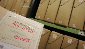 World War II intelligence files released by Britain's National Archives in September, 2014.