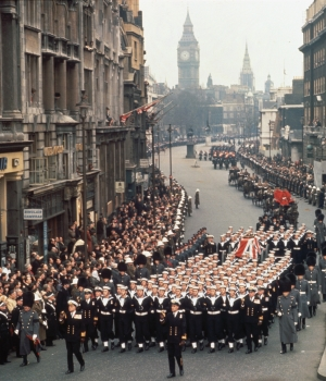 Winston churchill s funeral 50 years ago history in the headlines