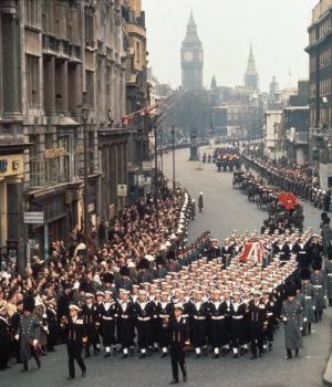 Churchill's funeral cortege, January 30, 1965