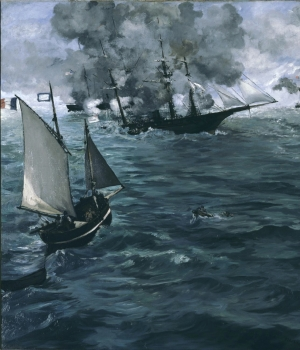 Edouard Manet's painting of battle between USS Kearsarge and CSS Alabama