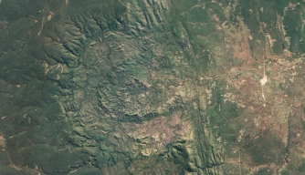 Luizi impact crater in Democratic Republic of the Congo