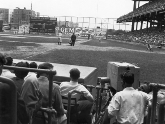 Brooklyn Dodgers and Cincinnati Reds face of on August 26, 1939. (Credit: MLB Photos via Getty Images)