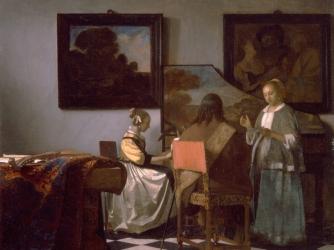 """Johannes Vermeer's """"The Concert"""""""