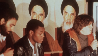 The first group of released U.S. Embassy staffers address the media on November 18, 1979