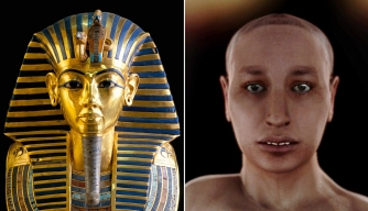 "Tutankhamen's gold mask and the recently created ""virtual autopsy"""