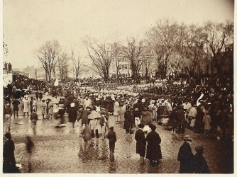 The crowd outside the Capitol