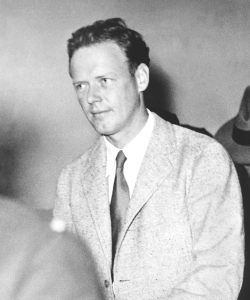 Charles Lindbergh at the grand jury investigation of Bruno Hauptmann on October 2, 1934. (Credit: Planet News Archives/SSPL/Getty Images)