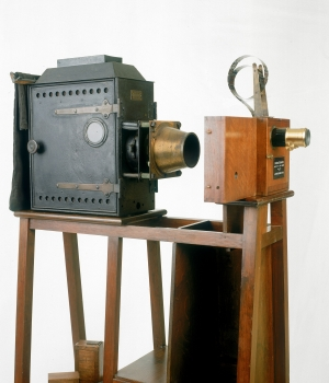 Lumière Cinematographe, 1895 (Credit: SSPL/Getty Images)