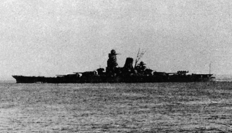 The Musashi leaving Brunei for the Battle of Leyte Gulf, October 1944