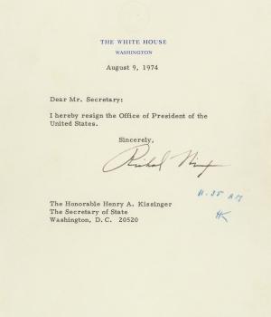 Nixon's resignation letter