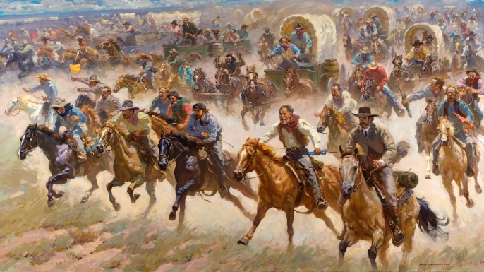 Image result for the oklahoma land rush