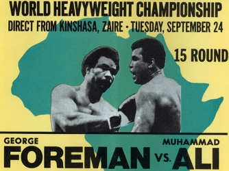 Ring Magazine cover promoting the Ali-Foreman fight (Credit: The Ring Magazine/Getty Images)