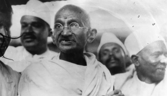 Gandhi leading the Salt March.