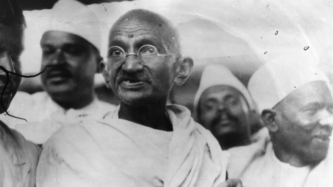 Gandhi leading the Salt March.