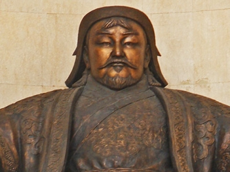 hith searching for Genghis Khan