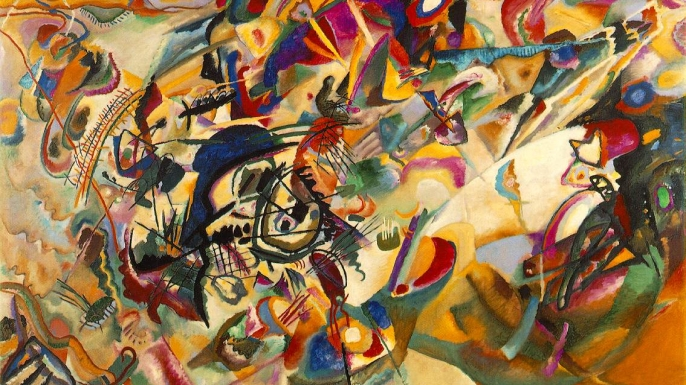 A 1913 painting by Wassily Kandinsky, an artist who may have had synesthesia.