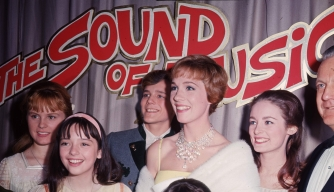 "The cast of ""The Sound of Music"" at the film's 1965 premiere."
