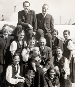 The Trapp Family Singers on tour in 1940. (Credit: Imagno/Getty Images)