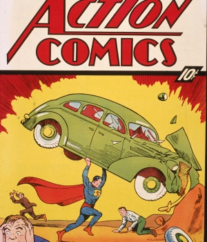 Superman's first appearance, in Action Comics #1 released in April 1938. (Credit: Getty Images)